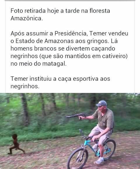 """Será verdade que a Amazônia foi vendida para os """"gringos""""? (foto: Reprodução/Facebook)"""