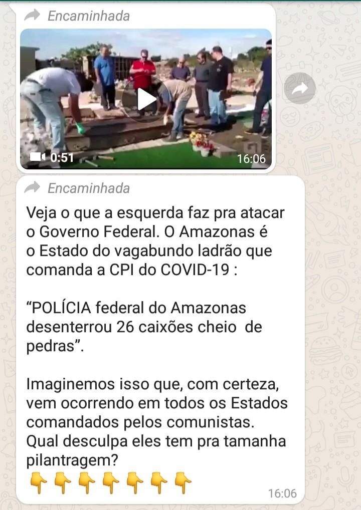 A Polícia Federal do Amazonas desenterrou 26 caixões cheios de pedras?