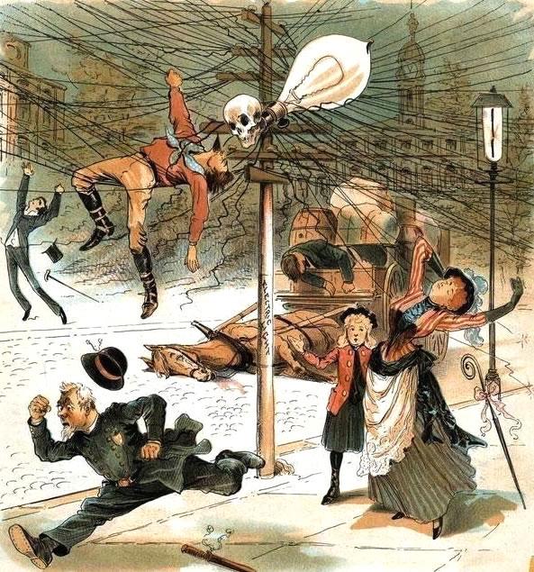 Cartaz anti-eletricidade dos anos 1900! Será verdade?