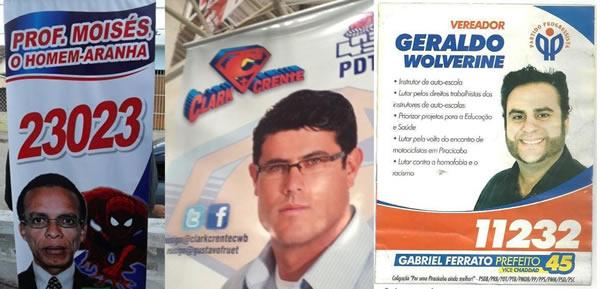 """""""Homem-aranha"""", """"Clark Crente"""" e """"Wolverine"""": candidatos às eleições! Será?"""