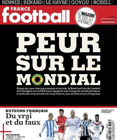 Capa da revista francesa que teria falado mal do Brasil na Copa! Verdade ou farsa? (foto: Divulgação)