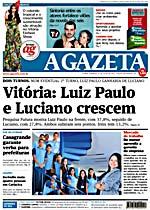 Capa do Jornal A Gazeta - ES
