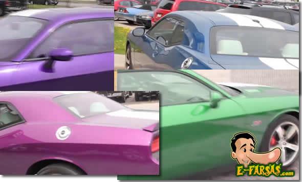 Vídeo mostra a tinta paramagnética que dará ao proprietário do veículo a oportunidade de mudar a cor do carro a um simples toque de um botão! Verdadeiro ou falso: (foto: Montagem do E-farsas sobre vídeo do YouTube)