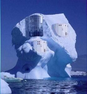 Casa feita de gelo - reprodução
