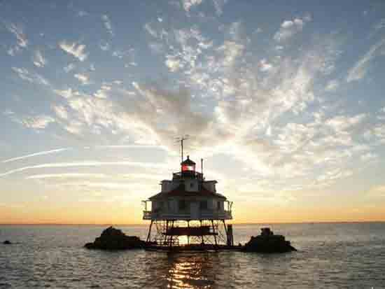 Farol Thomas Point fica no estado de Maryland – EUA