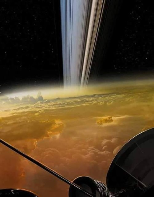 Foto tirada pela sonda Cassini duas semanas atrás mostra a atmosfera de Saturno! Será?