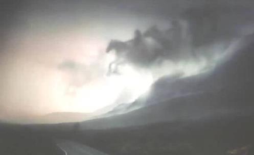 Formação em nuvens mostra que o fim está próximo! Será verdade? (foto: Reprodução/Facebook)