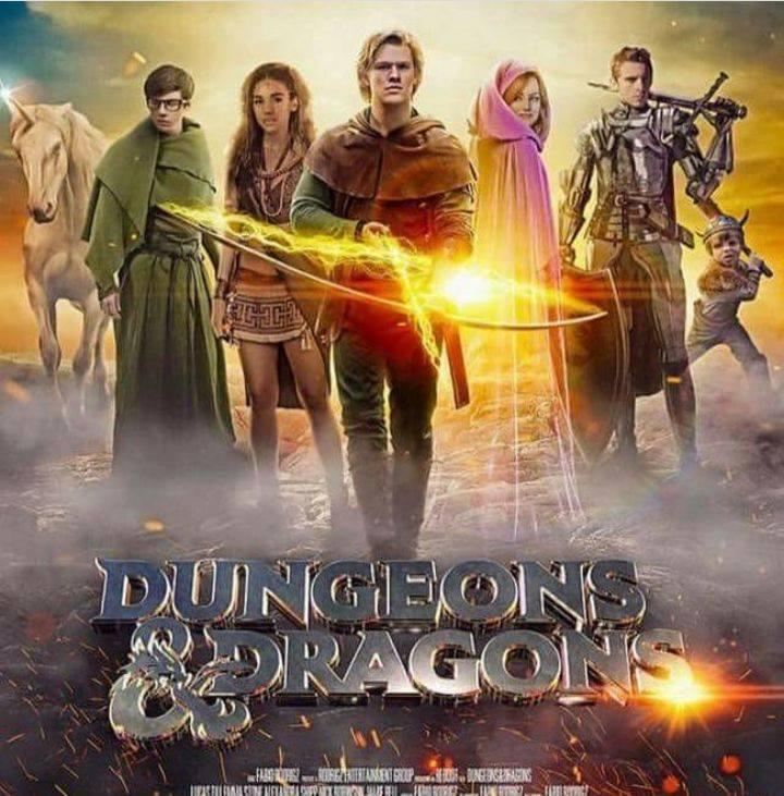 Vazou o poster do filme Caverna do Dragão?