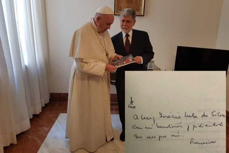 O papa Francisco escreveu uma mensagem para Lula?