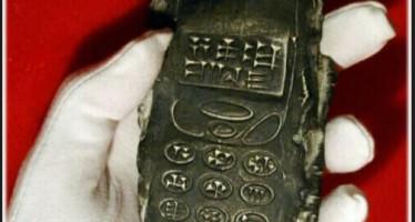 Objeto semelhante a um celular foi datado do século 13 a.C! Será verdade? (foto: Reprodução/Facebook)