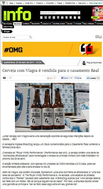 Noticia da cerveja com viagra na Info