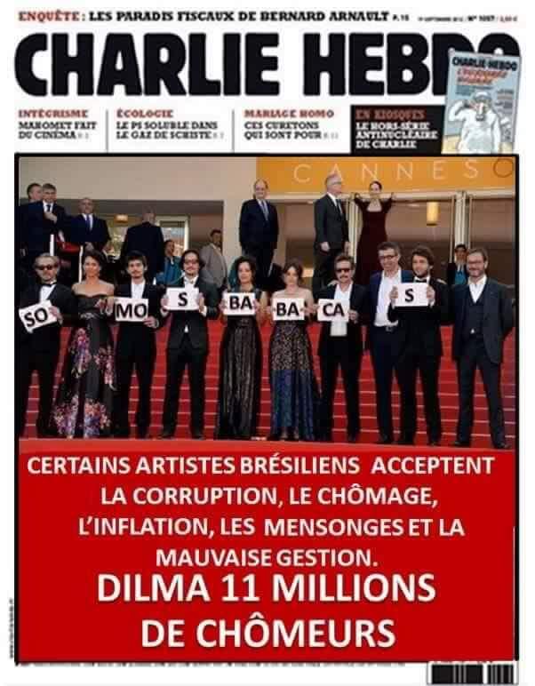 Charlie Hebdo fez chacota com protesto de filme brasileiro?