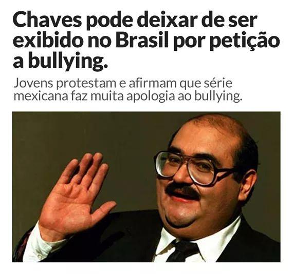 Chaves pode deixar de ser exibido no Brasil por causa de uma petição contra o bullying?