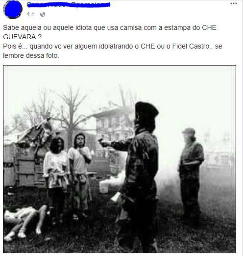 Foto mostra Che Guevara atirando em mulheres indefesas! Será?
