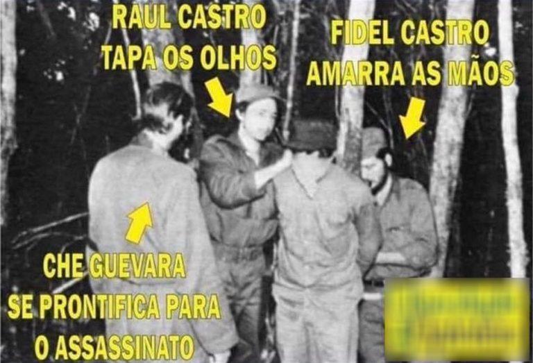 Foto mostra Che Guevara pronto para executar um pobre camponês cubano?