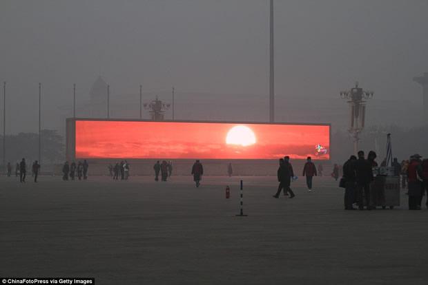 China transmite nascer do Sol em telões por causa da poluição?