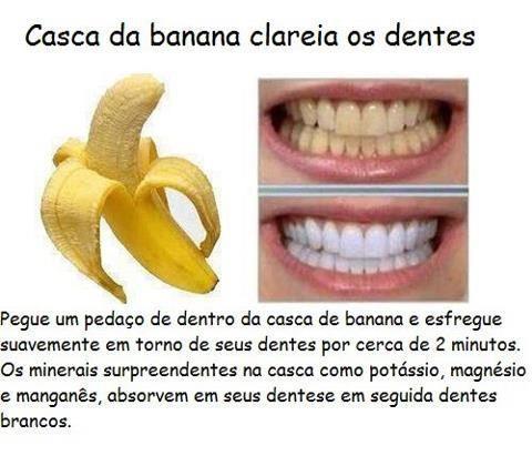 Casca De Banana Pode Clarear Os Dentes