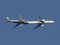 Colisão entre 2 aviões! Ilusão de ótica!