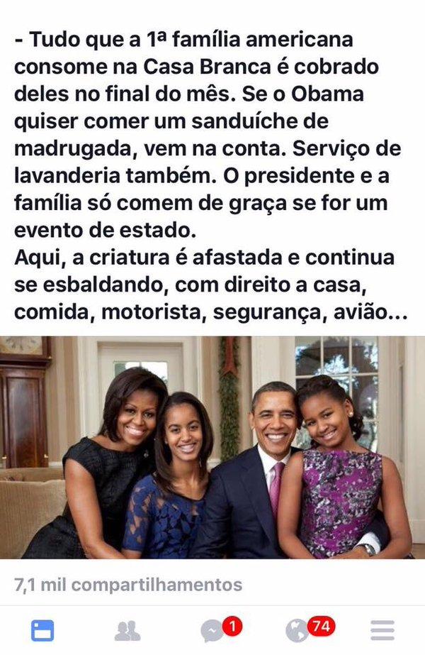 Nos Estados Unidos o presidente é quem paga pelas despesas pessoais da primeira família! Será verdade?