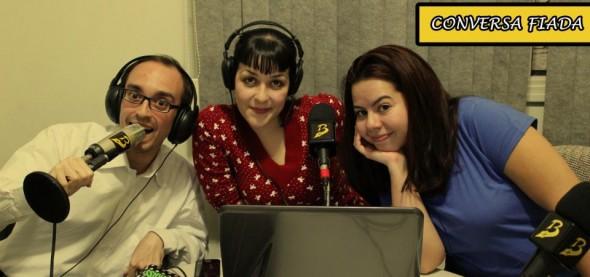 O Conversa Fiada é apresentado pelos jornalistas Vitor Lillo, Mirella Fonzar e Tatiana Fernandes (foto: Divulgação)
