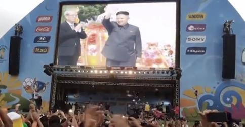 Governo norte-coreano estaria enganado o povo com imagens da falsa classificação do país na Copa de 2014! Verdade ou farsa? (foto: Reprodução/YouTube)