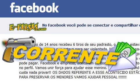 Corrente no Facebook! Será verdade?