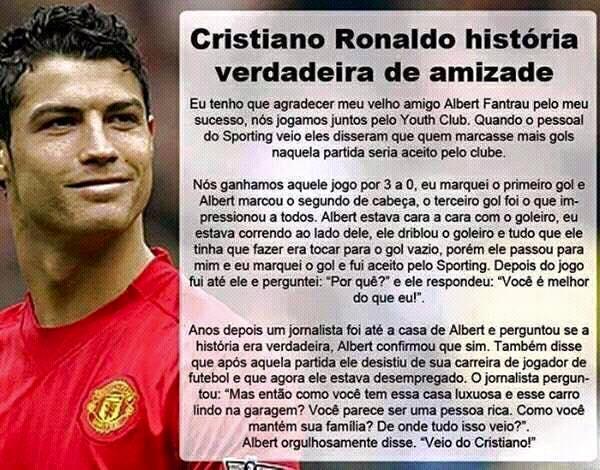 Cristiano Ronaldo tem uma dívida com o amigo Albert Frantau! Será verdade?