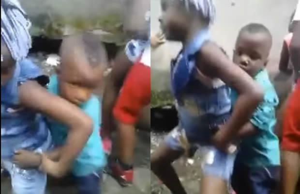 Crianças dançando sensualmente ao som do funk carioca! Será verdade? (reprodução/Facebook)
