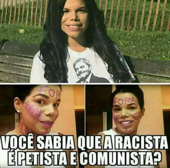 Socialite racista Day McCarthy vestindo uma camiseta do Lula?