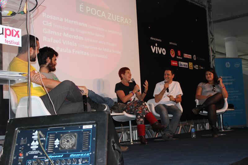 """O debate ainda teve a participação da plateia! (foto: Eduardo """"Efarsinho"""" Lopes)"""