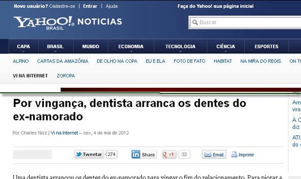 Vingança da dentista no Yahoo!