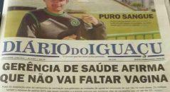 Imagem mostra erro em manchete de jornal! Será verdade? (foto: Reprodução/Facebook)