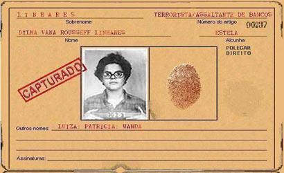 Ficha policial de Dilma Rousseff é falsa!