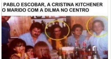 Dilma Rousseff ao lado do traficante Pablo Escobar! Será verdade? (foto: Reprodução/Facebook)