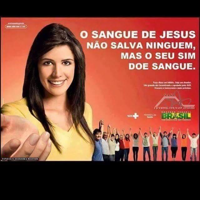Campanha de doação de sangue criada pelo Governo tem slogan polêmico! Será verdade? (foto: Reprodução/Facebook)