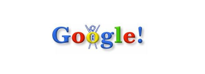 Primeiro Doodle do Google, feito em 1998! (foto: Divulgação/Google)