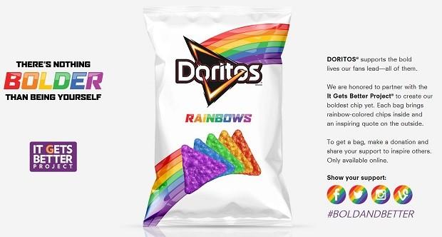 Doritos para o público LGBT!' Será verdade? (foto: Divulgação)