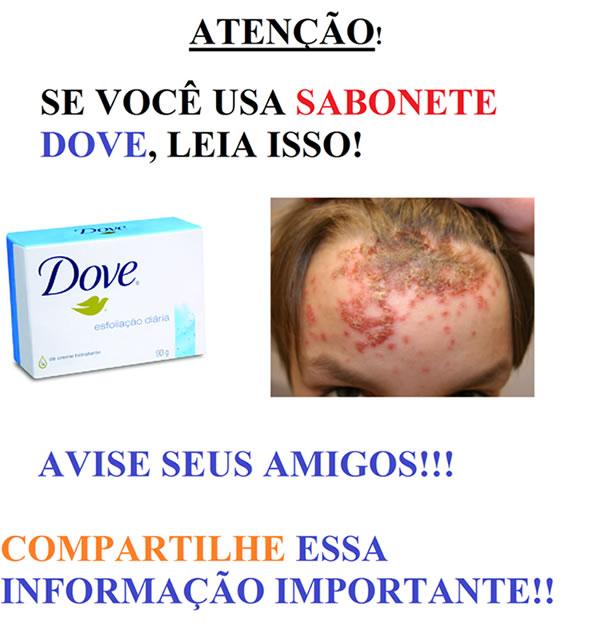 Sabonete Dove causa câncer! Será verdade? (foto: reprodução/Facebook)
