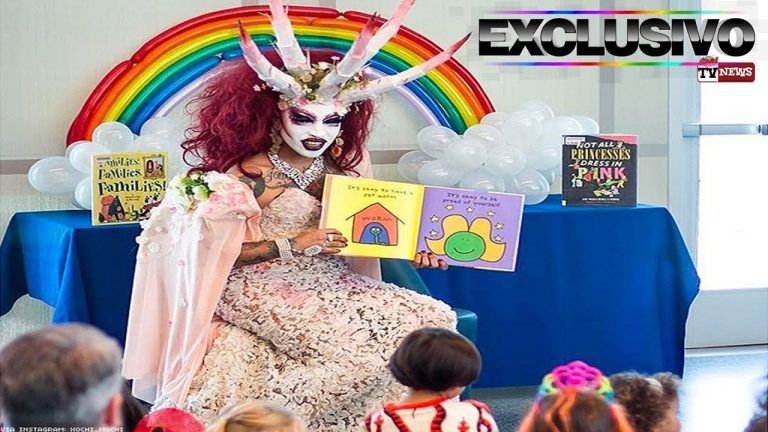 Drag queen vestida de demônio conta histórias para crianças nas escolas?