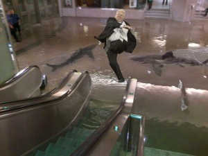 Montagem sobre a enchente em Toronto