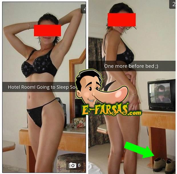 Esposa manda sem querer uma foto com as botas do amante! Será verdade? (fotos: Reprodução/Facebook)