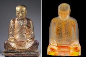 Estátua do Buda teria uma múmia escondida em seu interior! Verdade ou farsa? (foto: reprodução/YouTube)