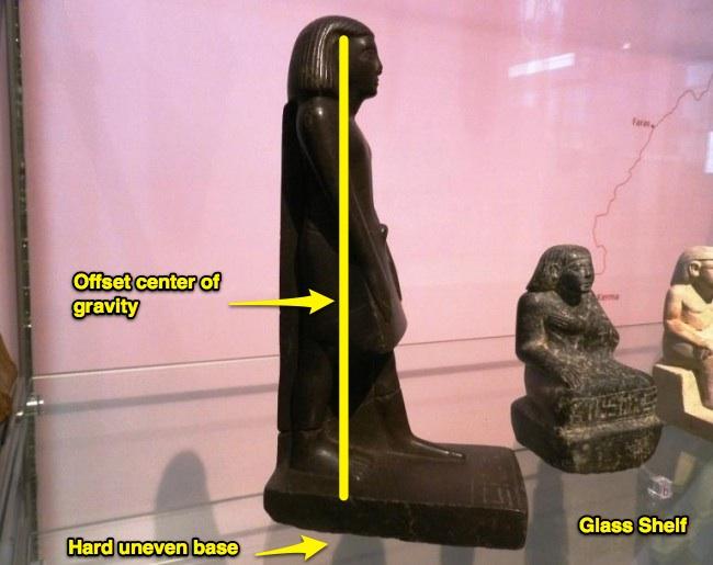 Estátua de Osíris que gira  no museu! (foto: Reprodução/MetaBunk)