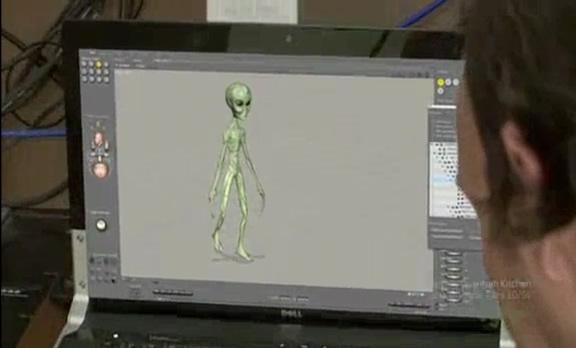 Leonel Fernandez exibe seu extraterrestre feito por ele mesmo no computador!
