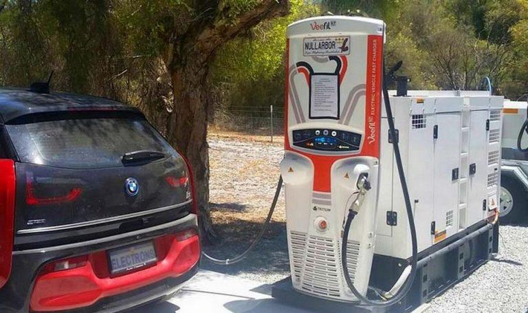 Carregador de carros elétricos é alimentado por gerador a diesel! Será verdade?