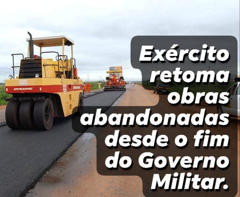 Bolsonaro ordenou que o Exército termine a pavimentação da Transamazônica?