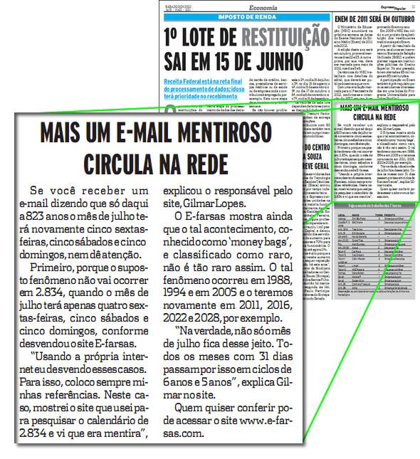 E-farsas no Expresso Popular de Santos