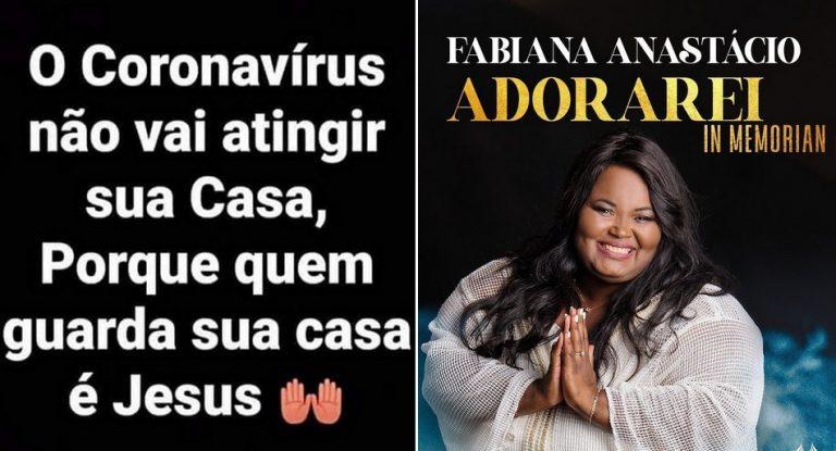 Frase sobre o coronavírus foi publicada pela cantora gospel Fabiana Anastácio?