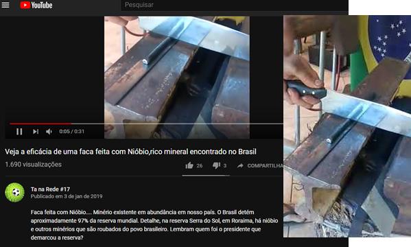 Uma faca feita com nióbio corta até aço! Será verdade?