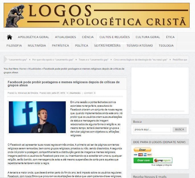 Ao perceberem o erro, muitos sites e blogs simplesmente deletam a postagem!